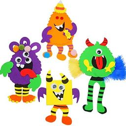 4E's Novelty Halloween Crafts for Kids (12 Pack) Monsters Foam Magnet Fall Arts and Crafts Kit fo... | Amazon (US)