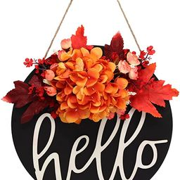 XZYFDHSY12 Inches Fall Wreath,Hydrangea Wreaths for Front Door Wreath for Front Door Decor Farmho... | Amazon (US)