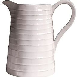 Creative Co-Op DA3081 White Ceramic Pitcher,48 Ounce | Amazon (US)