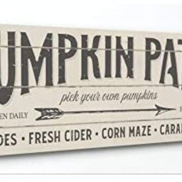 Stupell Industries Pumpkin Patch Fall Halloween Holiday Word Wood Texture Design Canvas Wall Art,... | Amazon (US)