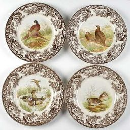 "Spode Woodland 10.5"" Dinner plates Set of 4 | Amazon (US)"