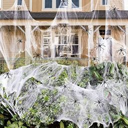900 sqft Spider Webs Halloween Decorations Bonus with 30 Fake Spiders, Super Stretch Cobwebs for ...   Amazon (US)