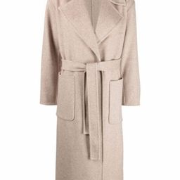 belted double-breasted coat | Farfetch (US)