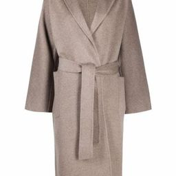 belted wool-cashmere coat | Farfetch (US)