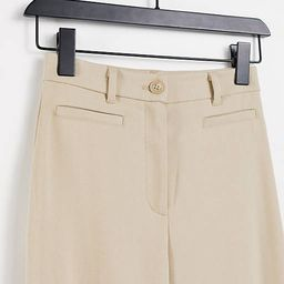 Monki Stacy recycled flare pants in beige   ASOS (Global)