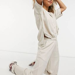 Noisy May oversized shirt in stone - part of a set   ASOS (Global)