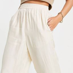 & Other Stories super soft cupro pants in beige   ASOS (Global)