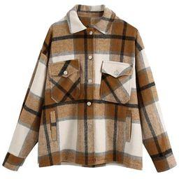 'Winnie' Thick Plaid Oversized Shirt Jacket (6 Colors) | Goodnight Macaroon