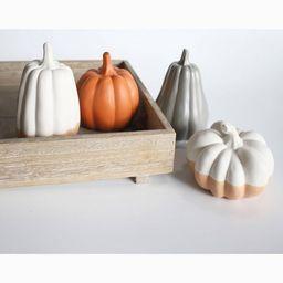 4ct Large Ceramic Pumpkins White/Orange - Bullseye's Playground™   Target