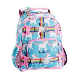 Mackenzie Aqua Unicorn Parade Backpack   Pottery Barn Kids