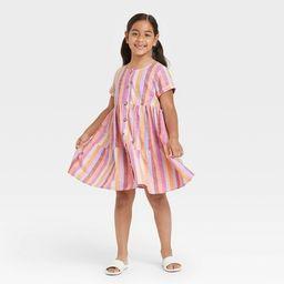Girls' Button-Front Woven Dress - Cat & Jack™ | Target