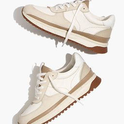 Kickoff Trainer Sneakers in Neutral Colorblock Leather   Madewell