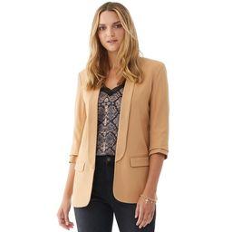 Scoop Women's Boyfriend Blazer with Scrunch Sleeves | Walmart (US)