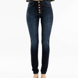 Kancan High Rise Button Fly Super Skinny Jeans | Macys (US)