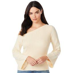 Sofia Jeans by Sofia Vergara Women's One-Shoulder Pullover Sweater | Walmart (US)