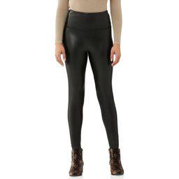 Scoop Women's Vegan Leather Leggings with 4-Way Stretch | Walmart (US)