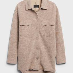 Italian Wool Shirt Jacket   Banana Republic (US)