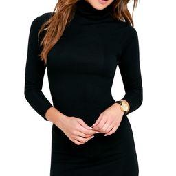 Phenomenal Feeling Black Long Sleeve Bodycon Dress | Lulus (US)