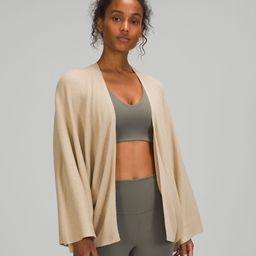 Cashlu™ Knit Textured Wrap   Women's Scarves & Wraps   lululemon   Lululemon (US)