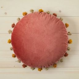 Oversized Velvet Round Floor Throw Pillow with Tassels - Opalhouse™ designed with Jungalow™   Target