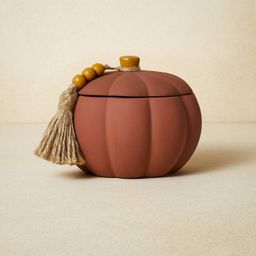 10oz Terracotta Pumpkin Yellow Candle - Opalhouse™ designed with Jungalow™   Target