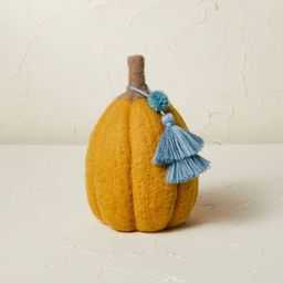"""7.5"""" x 5"""" Felted Pumpkin Figurine Gold - Opalhouse™ designed with Jungalow™   Target"""