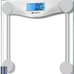 Etekcity Digital Body Weight Bathroom Scale, Large Blue LCD Backlight Display, High Precision Mea... | Amazon (US)
