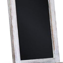 Rustic Whitewash Tabletop Chalkboard Sign / Hanging Magnetic Wall Chalkboard / Small Countertop C... | Amazon (US)