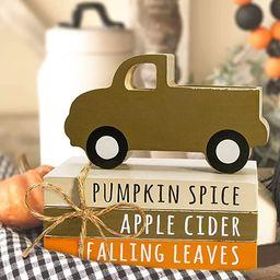 Fall Decor - Fall Decorations for Home - Tiered Tray Decor - 3 Mini Faux Decorative Books Bundle ... | Amazon (US)