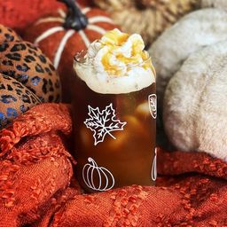 Fall Beer Can Glass |Pumpkin Beer Can Glass | Fall Coffee Glass |Pumpkins Coffee Glass | Fall Cof... | Etsy (US)