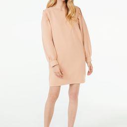 Scoop Women's Puff Sleeve Sweatshirt Dress - Walmart.com | Walmart (US)