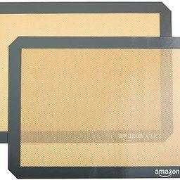 Amazon Basics Silicone, Non-Stick, Food Safe Baking Mat - Pack of 2 | Amazon (US)