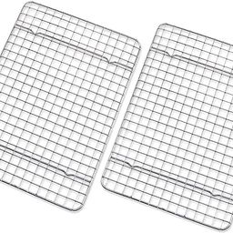 Checkered Chef Cooling Rack - Set of 2 Stainless Steel, Oven Safe Grid Wire Racks for Cooking & B... | Amazon (US)