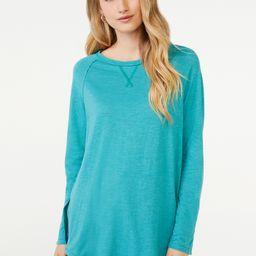 Scoop Women's Semi Sheer Snap Sleeve Tunic - Walmart.com | Walmart (US)