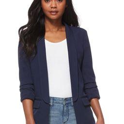Scoop Women's Boyfriend Blazer with Scrunch Sleeves - Walmart.com | Walmart (US)