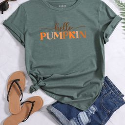 Letter Graphic Short Sleeve Tee | SHEIN