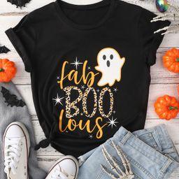 Halloween Print Round Neck Tee | SHEIN
