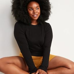 UltraLite Long-Sleeve Crew-Neck Ribbed Cropped Top for Women | Old Navy (US)