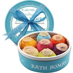Aofmee Bath Bombs, 7 Pcs Fizzies Spa Kit Perfect for Moisturizing Skin, Birthday Valentines Mothe... | Amazon (US)