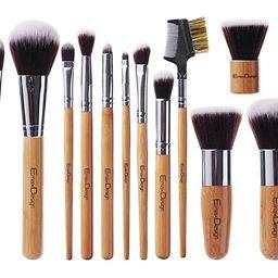 EmaxDesign 12 Pieces Makeup Brush Set Professional Bamboo Handle Premium Synthetic Kabuki Foundat... | Amazon (US)