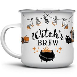 Halloween Fall Autumn Season Enamel Campfire Mug, Witch's Brew Outdoor Camping Coffee Cup, Gift f...   Amazon (US)