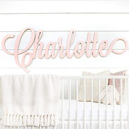 """Personalized Nursery Decor - Custom Wooden Name Sign - 8 sizes available 12""""-54"""" WIDE - Unpainted...   Amazon (US)"""