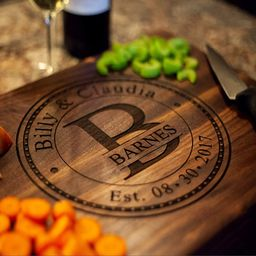 Personalized Cutting Board, USA Handmade Cutting Board - Personalized Gifts - Wedding Gifts for t...   Amazon (US)