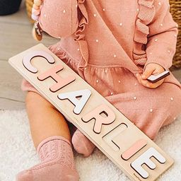 Name Puzzle With Pegs Personalized Wooden Name Puzzle Wooden Toys Custom Name Puzzle by BusyPuzzl...   Amazon (US)
