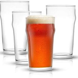 JoyJolt Grant Pint Glasses Set of 4 (FOUR) 1.2 Pint Glass Capacity in a Traditional Pub Drinking ...   Amazon (US)