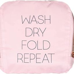 Miamica Travel Laundry Bag, Wash, Dry, Fold, Repeat, Pink, One Size   Amazon (US)