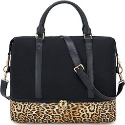 CAMTOP Canvas Weekender Bag, Travel Duffle Women Ladies Carry-on Tote with Shoe Compartment and L...   Amazon (US)
