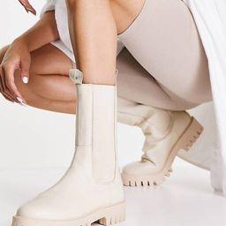 ASRA - Cherrie - Hoge chelsea boots van leer in melkwit   ASOS (Global)