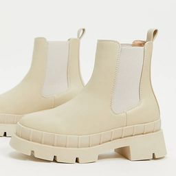 RAID Wide Fit - Turner - Chelsea boots met dikke zool in stone   ASOS (Global)
