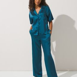 Satin Notch Collar Pajama Set | Soma Intimates